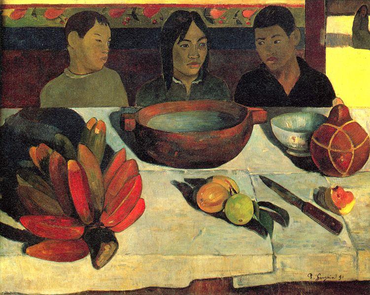 Paul Gauguin - Le repas (Les bananes), 1891